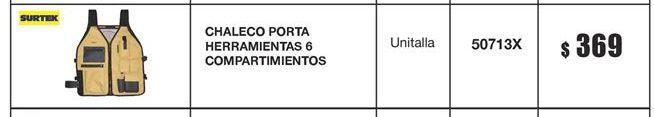 Oferta de Chaleco Surtek por $369