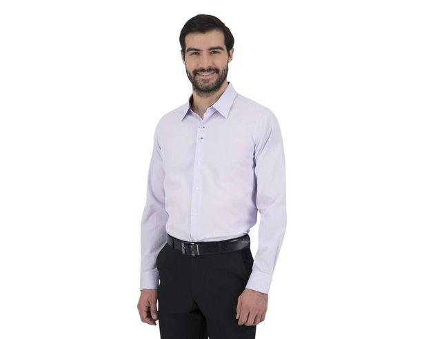 Oferta de Camisa Manga Larga color Lila marca Wallstreet para Hombre por $239