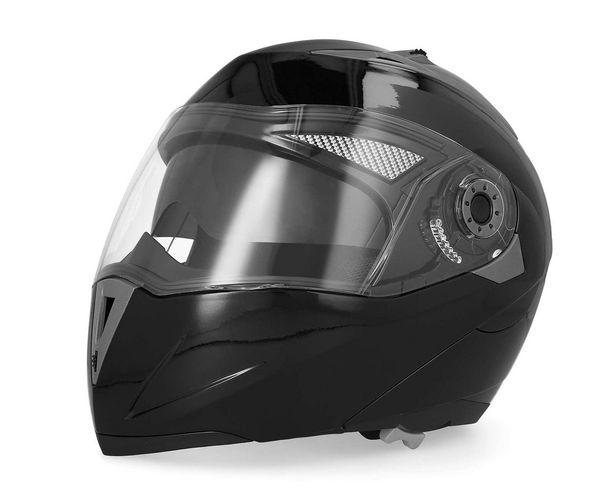 Oferta de Casco para Motociclista Brumm Mediano Abatible color Negro por $1.499