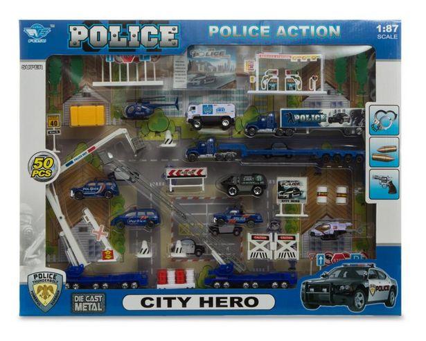 Oferta de Set de Vehículos de Policía con Accesorios por $249