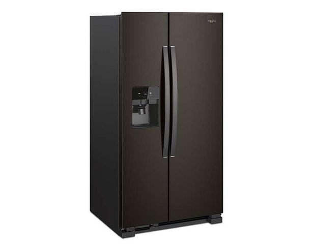 Oferta de Refrigerador Whirlpool Dúplex WD5720V 25 Pies color Acero Inoxidable Negro por $29999