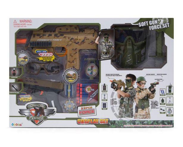 Oferta de Set Militar con Pistola y Máscara Debao por $459