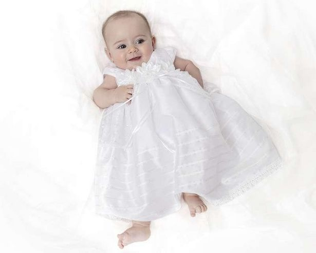 Oferta de Vestido de Fiesta Blanco marca Baby Colors para Bebé Niña por $299