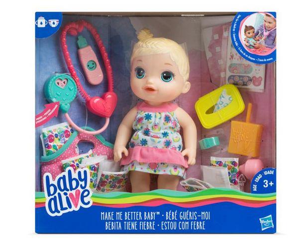 Oferta de Muñeca Baby Alive Bebita Tiene Fiebre Hasbro por $559