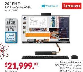 Oferta de All in One Lenovo por $21999