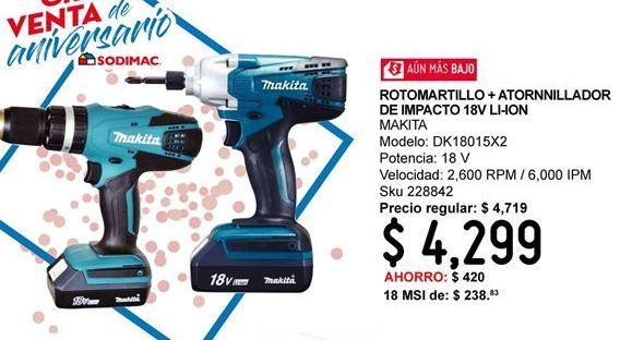 Oferta de Rotomartillo + Atornillador De Impacto por $4299