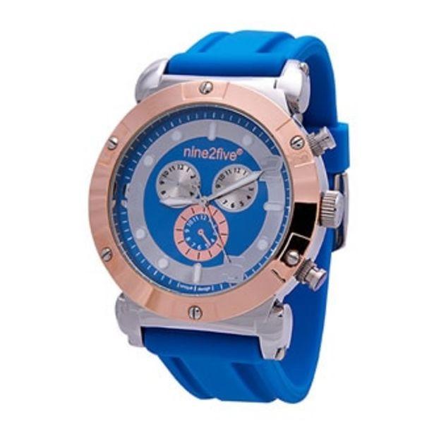 Oferta de Reloj Nine2five Análogo Dama Silicón AROM09AZAZ Azul por $464.5