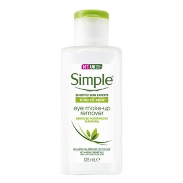 Oferta de Desmaquillante de Ojos Simple 125 ml por $90.3