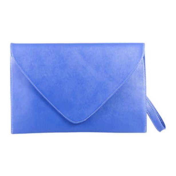 Oferta de Bolsa Brunella Tipo Clutch Azul Dama Piel Sintética ILY... por $399.2