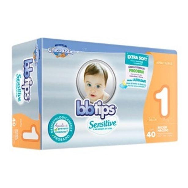 Oferta de Pañales BB Tips Sensitive Etapa 1 Recién Nacido Unisex ... por $119