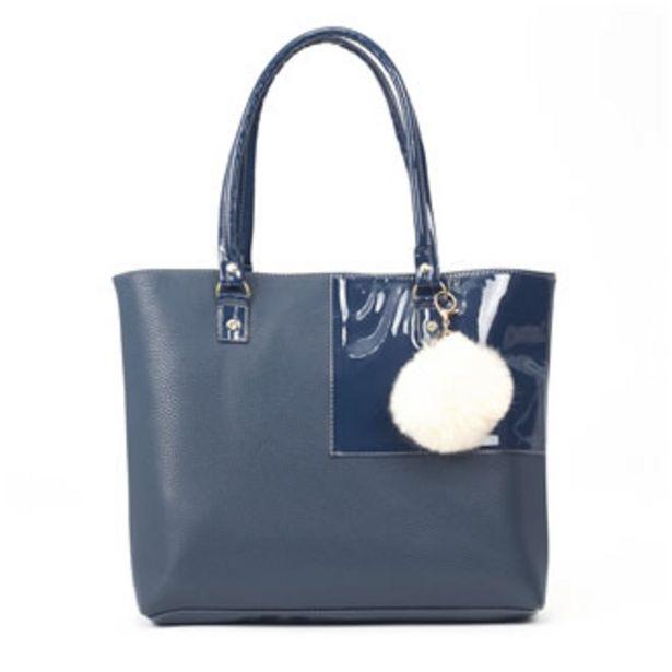 Oferta de Bolsa Brunella Tipo Tote Azul Dama Piel Sintética IMP02... por $272.5