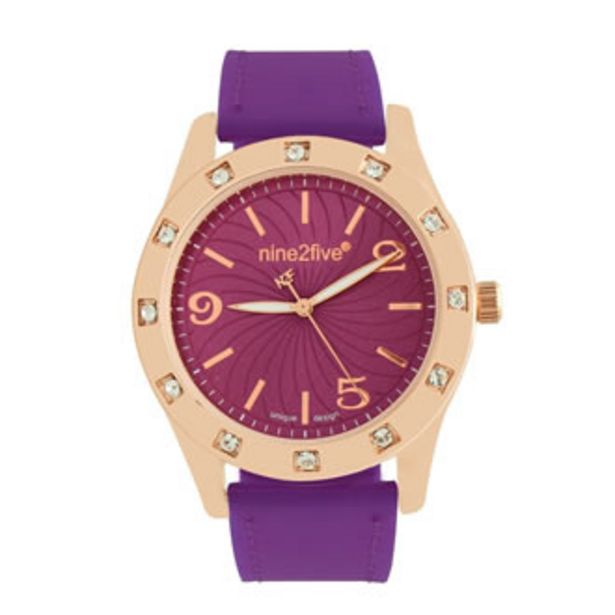 Oferta de Reloj Nine2five Análogo Dama Silicón AHYD10BLMR Blanco por $464.5