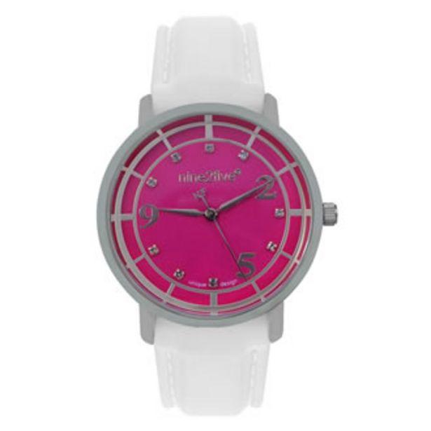 Oferta de Reloj Nine2five Análogo Dama Silicón ASVA11BLVT Blanco por $449.5