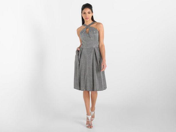 Oferta de Vestido Marie Claire texturizado sin manga por $359