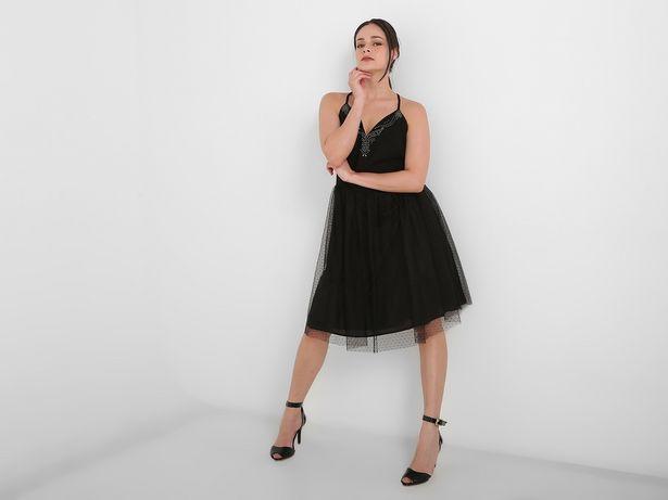 Oferta de Vestido Marie Claire a lunares cuello V por $629
