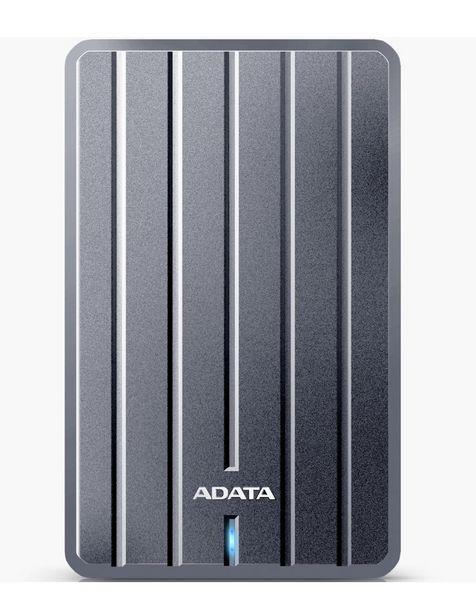 Oferta de Disco Duro Externo 2TB Adata HC660 USB 3.2 Titanio AHC660-2TU31-CGY por $1899