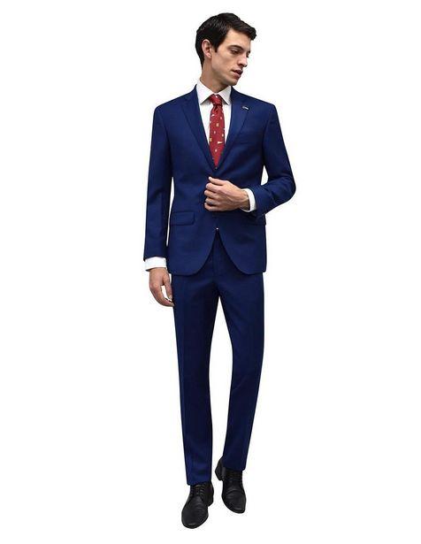 Oferta de Traje Tommy Hilfiger corte regular fit lana azul obscuro por $6374.15