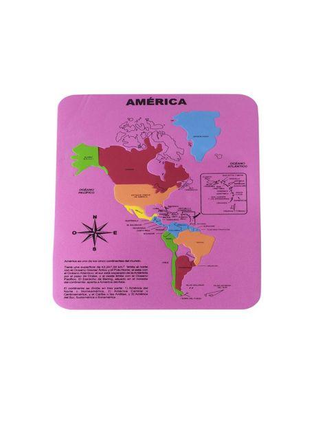 Oferta de Rompecabezas Fabi y Sofy Mapa de América (rosa) por $540