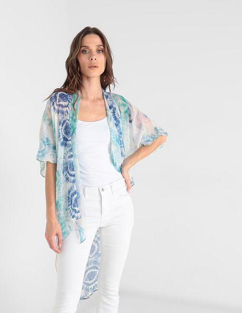 Oferta de Kimono Collection XIIX azul con diseño gráfico por $424.15