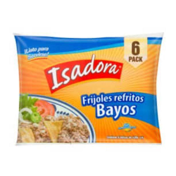 Oferta de Frijoles Isadora Bayos Refritos 6 pzas de 430 g por $66.5