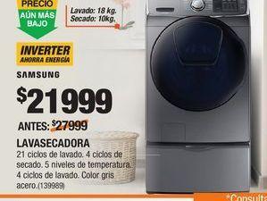 Oferta de Lavadora secadora Samsung por $21999