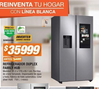 Oferta de Refrigerador dos puertas Samsung por $35999
