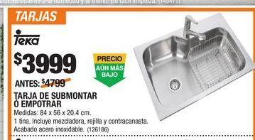 Oferta de Tarja De Submontar Teka por $3999