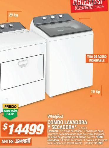 Oferta de Lavadoras Whirlpool por $14499