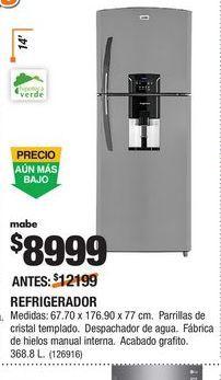 Oferta de Refrigeradores Mabe por $8999