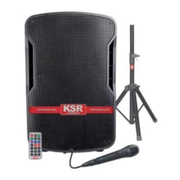 Oferta de Bafle KSR Premium de 15 Pulgadas Batería Recargable 15000 W PMPO por $2044.98