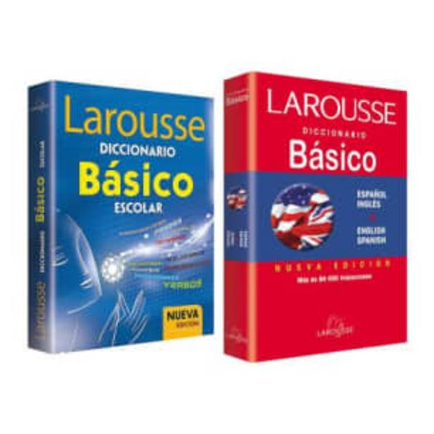 Oferta de Pack Diccionario Básico Y Diccionario Español Inglés Larousse 3° y 4° de Primaria por $91.05
