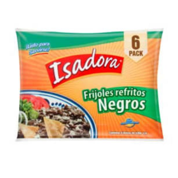 Oferta de Frijoles Isadora Negros Refritos 6 pzas de 430 g por $66.5