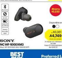 Oferta de Sony NC WF-1000XM3 por $4749