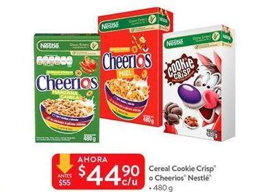 Oferta de Cereal cookie crisp o cheerios Nestle por $44.9