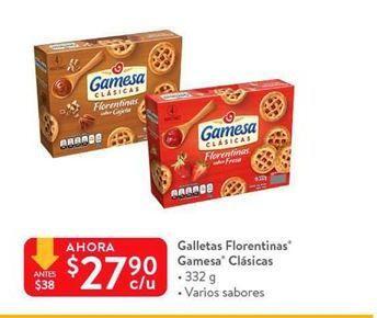 Oferta de Galletas Florentinas Gamesa clásicas por $27.9