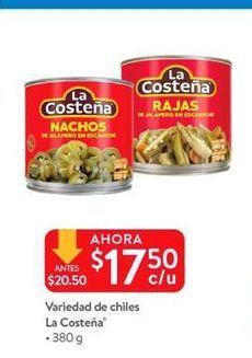 Oferta de Variedad de chiles La Costeña por $17.5