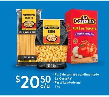 Oferta de Pure de tomate condimentado La Costeña. Pastas La Madama por $20.5