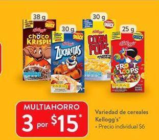 Oferta de Variedad de cereales Kellogg's por