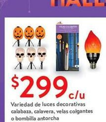 Oferta de Variedad de luces decorativas calabaza calavera velas colgantes o bombilla antorcha por $299