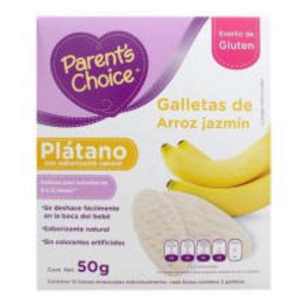 Oferta de Galletas de arroz jazmín Parent's Choice con saborizante natural plátano 50 g por $45