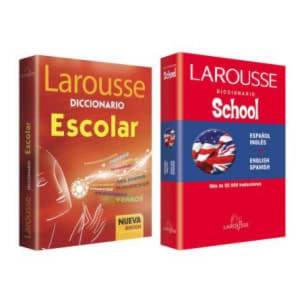 Oferta de Pack Diccionario Escolar y Diccionario Básico Español Inglés Larousse 5° y 6° de Primaria por $107.42