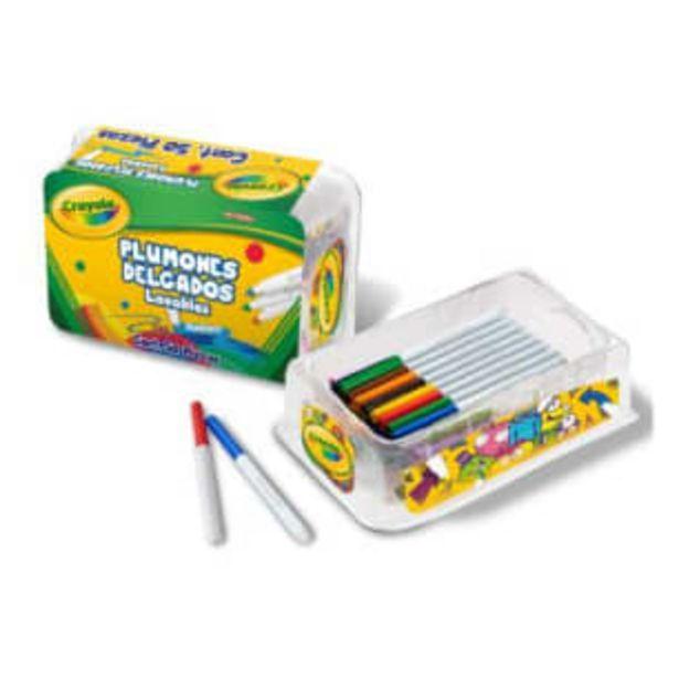Oferta de Plumones Delgados Lavables Crayola Super Tips 50 pzas por $170.84