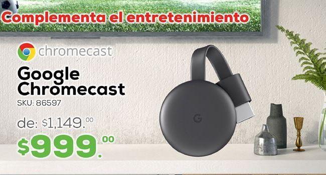 Oferta de Google Chromecast por $999