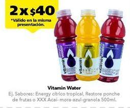 Oferta de Agua con sabor Vitamin Water por $40