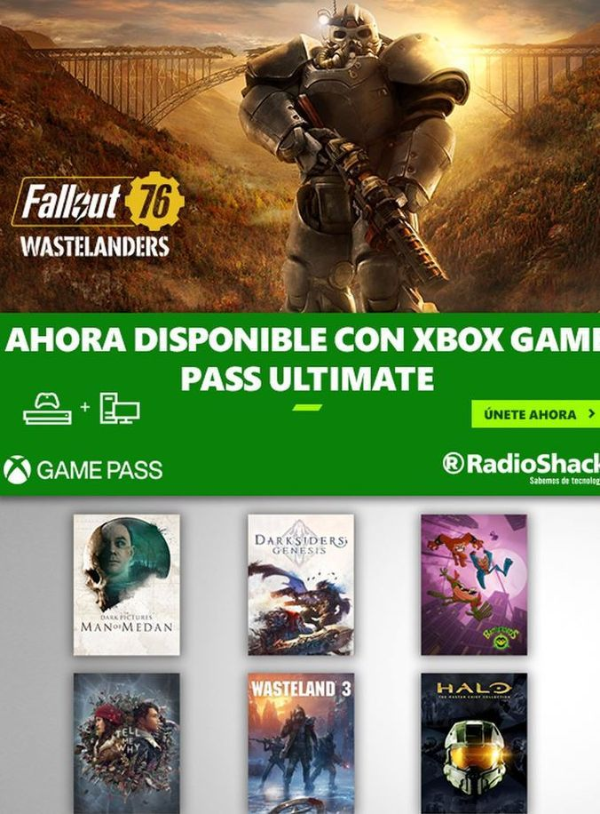 Oferta de Fallout 76 Wastelanders Ahora Disponible Con Xbox Gaming Pass Ultimate por