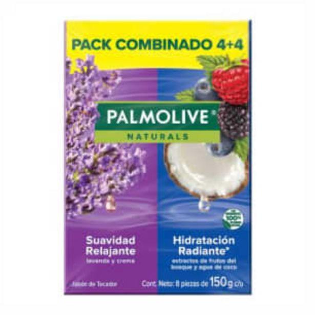 Oferta de Jabón de Tocador Palmolive Naturals con 8 pzas de 150 g por $86.96