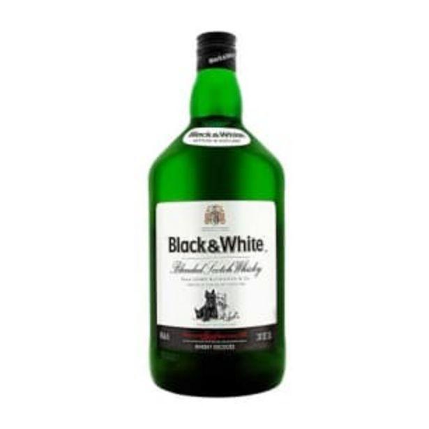 Oferta de Whisky Black & White 1.75 l por $357.03
