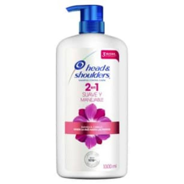 Oferta de Shampoo Head & Shoulders 2 en 1 Suave y Manejable 1 l por $121.72