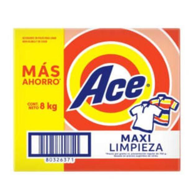 Oferta de Detergente en Polvo Ace 8 kg por $184.14