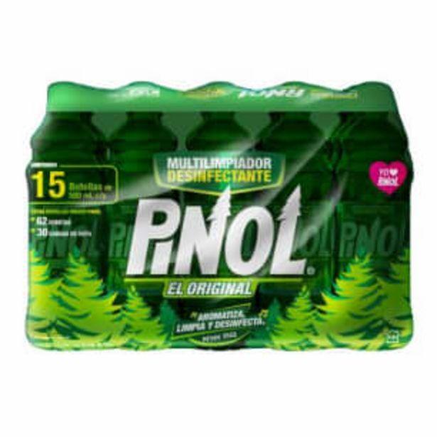 Oferta de Multilimpiador Desinfectante Pinol El Original 15 pzas de 500 ml c/u por $191.79